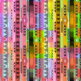 African ethno abstract seamless tribal pattern with folk element Royalty Free Stock Photos