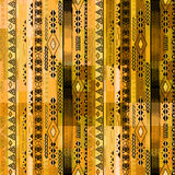 African ethno abstract seamless tribal pattern with folk element Stock Images