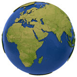 African and European continents on Earth Royalty Free Stock Images