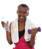 African Exercise Health Girl Stock Images