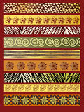 African fabric. An illustration of African fabric in earthtones Royalty Free Stock Image