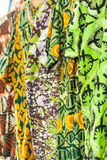 African fabrics from Ghana, West Africa Royalty Free Stock Photography