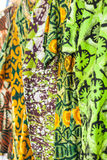 African fabrics from Ghana, West Africa Stock Images