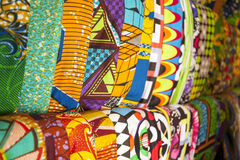 African fabrics from Ghana, West Africa Royalty Free Stock Images
