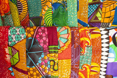 African fabrics from Ghana, West Africa Stock Image