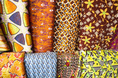 African fabrics from Ghana, West Africa Stock Photos