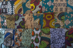 African fabrics Royalty Free Stock Photos