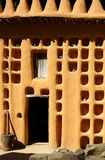 African facade. Front view of a Dogon house, Mali, Africa Royalty Free Stock Photography
