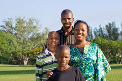 African family. Closeup portrait of a happy african family stock image