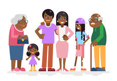 African Family Characters Child Teen Adult Old Icon Flat Design Vector Illustration Royalty Free Stock Photos