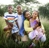 African Family Happiness Holiday Vacation Activity Concept Royalty Free Stock Images