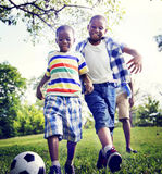 African Family Happiness Holiday Vacation Activity Concept Stock Images