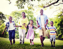 African Family Happiness Holiday Vacation Activity Concept.  royalty free stock photo