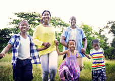African Family Happiness Holiday Vacation Activity Concept Stock Image