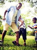 African Family Happiness Holiday Vacation Activity Concept.  royalty free stock image