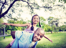 African Family Happiness Holiday Vacation Activity Concept.  stock image