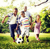 African Family Happiness Holiday Vacation Activity Concept.  Royalty Free Stock Photography