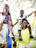 African Family Happiness Holiday Vacation Activity Concept.  royalty free stock photos