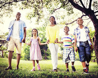 African Family Happiness Holiday Vacation Activity Concept Stock Photo