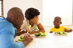 African family healthy meal Royalty Free Stock Photo