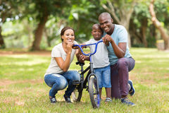 African family outdoors stock photo
