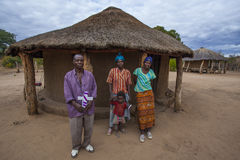 African family outside home Stock Photo
