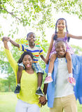 African Family. In a park royalty free stock photos
