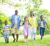 African Family in The Park Royalty Free Stock Image