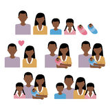 African family vector. Vector file of african family Stock Illustration