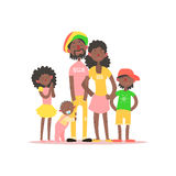 African Family. Vector Illustration Royalty Free Stock Images