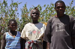 African family in the village Royalty Free Stock Photos