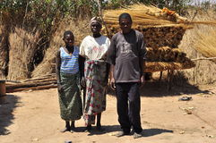 African family in the village household Stock Image