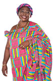 African fashion. Senior african woman in traditional Ghanaian clothes Stock Photos