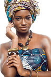African fashion model. Stock Image