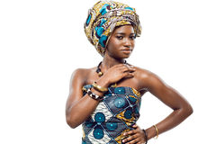 African fashion model. Royalty Free Stock Photos