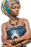 African fashion model. Royalty Free Stock Images