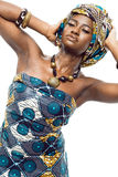 African fashion model. Royalty Free Stock Photography