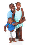 African father and kids Stock Images
