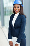 African female architect laptop Stock Photo