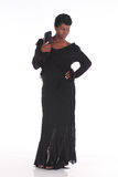 African female in black dress Stock Images