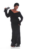 African female in black dress Royalty Free Stock Photography