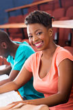 African female college student Stock Images