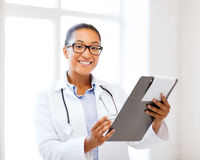 African female doctor in hospital Stock Photos
