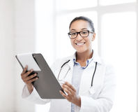 African female doctor in hospital Stock Photography