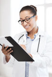 African female doctor in hospital Royalty Free Stock Images