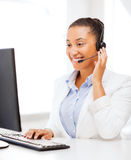 African female helpline operator Royalty Free Stock Images