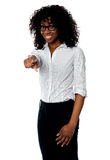 African female manager pointing at you Stock Images