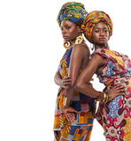 African female models posing in dresses. Stock Photos