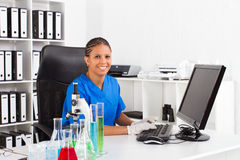 African female scientist Royalty Free Stock Photography