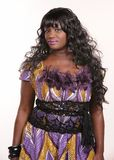 African female singer Royalty Free Stock Photography